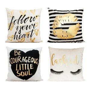 Just Pillowcase Bronzing Flannel Throw Pillow Cove